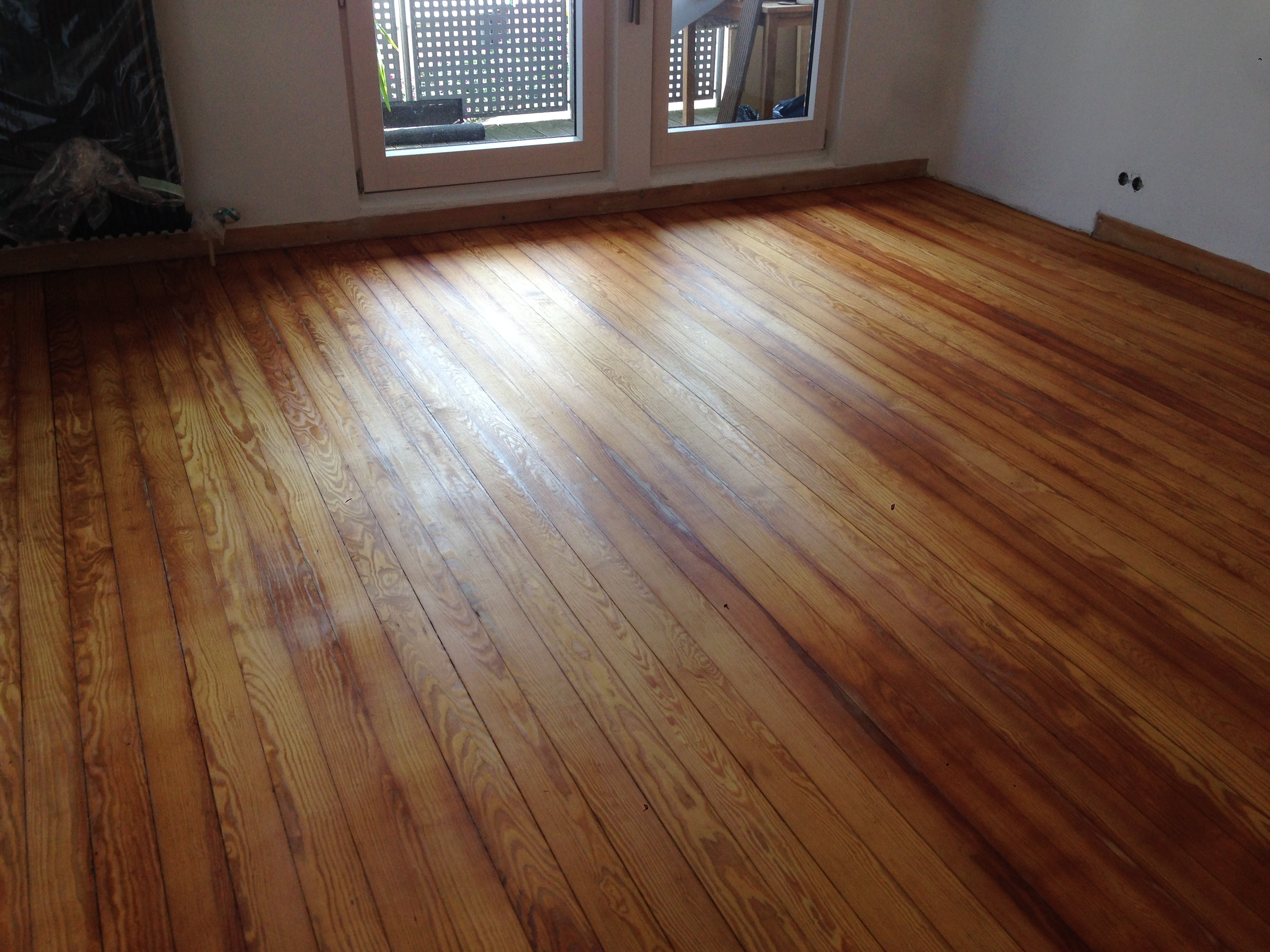 pitch pine dielenboden geschliffen & geölt - dima parkett
